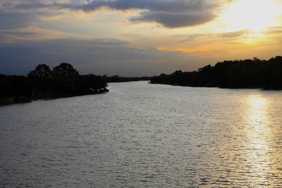 Autumn Sunset  over the Vaal River,