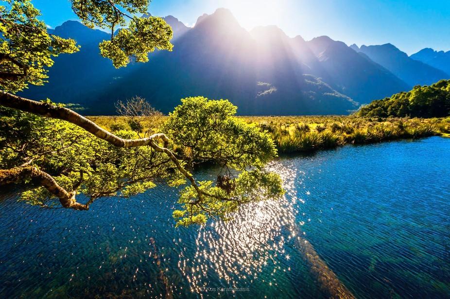 Mirror Lakes, Milford Sound, New Zealand