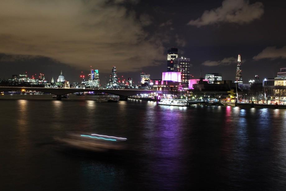 Londons Skyline at Night