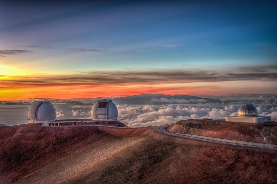 The observatory at the top of Mauna Kea on Big Island Hawaii