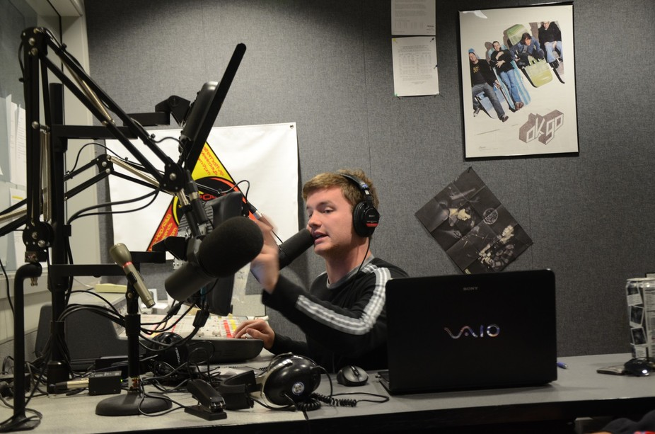 Radio station , live