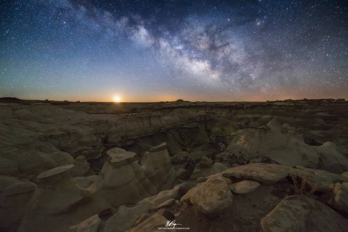 Moonrise at Bisti Badlands by mattpayne - The Moonlight Photo Contest