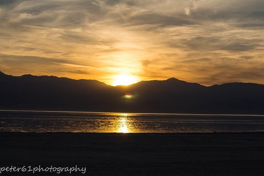 sun set at Salton Sea National park
