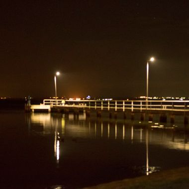 St Helens Pier at night