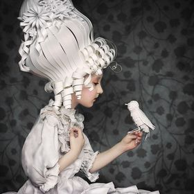"""There is nothing new except what has been forgotten."" ~Marie Antoinette An image inspired by Marie Antoinette. I handcrafted the headp..."