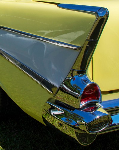 Tail fin on a 1957 Chevrolet