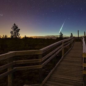 Shots taken at Paukaneva, little swamp near Seinäjoki Combined with two shots, one with night sky, one with foreground focus.  More photos: Webp...
