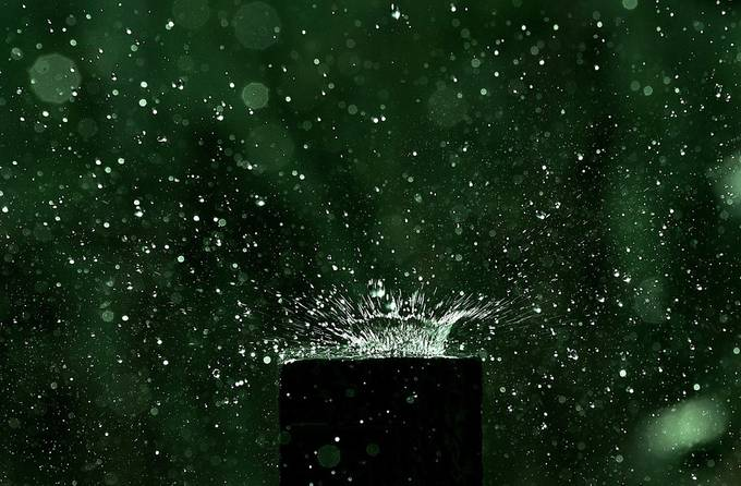 Gatepost in the rain by TurnipTowers - Rain Photo Contest