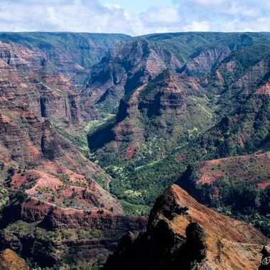 The incredible Waimea canyon on the island of Kauia, Hawaii.