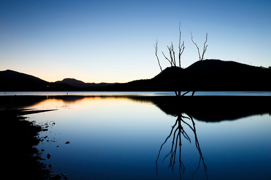 Lake Moogerah, south west of Brisbane was the subject I chose to paint with light on this day. Th...