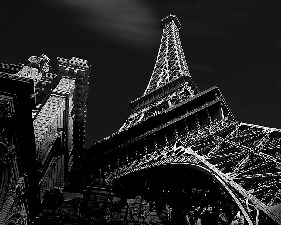 Eiffel Tower at the Paris Casino Resort, Las Vegas. This is a half sized replica of the actual Ei...