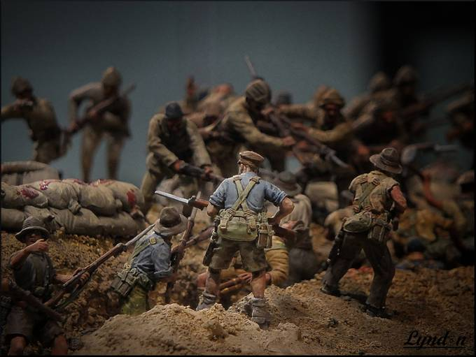 The Assault On Chunuk Bair - WWI Miniature Diorama  by kiwidragonfly - Disrupting Depth Photo Contest