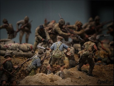 The Assault On Chunuk Bair - WWI Miniature Diorama