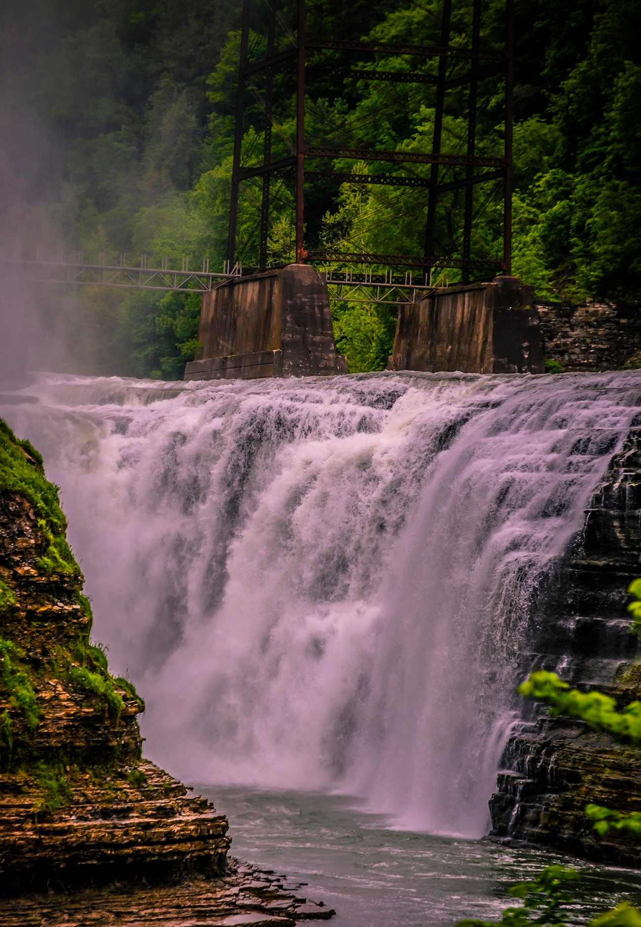 I love the falls at Letchworth State Park. There are 3 waterfalls in the State Park and this one is the 3rd one.