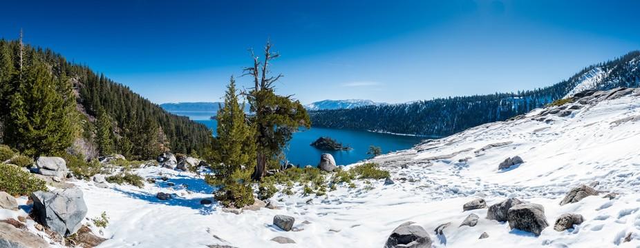 Panorama of Emerald Bay