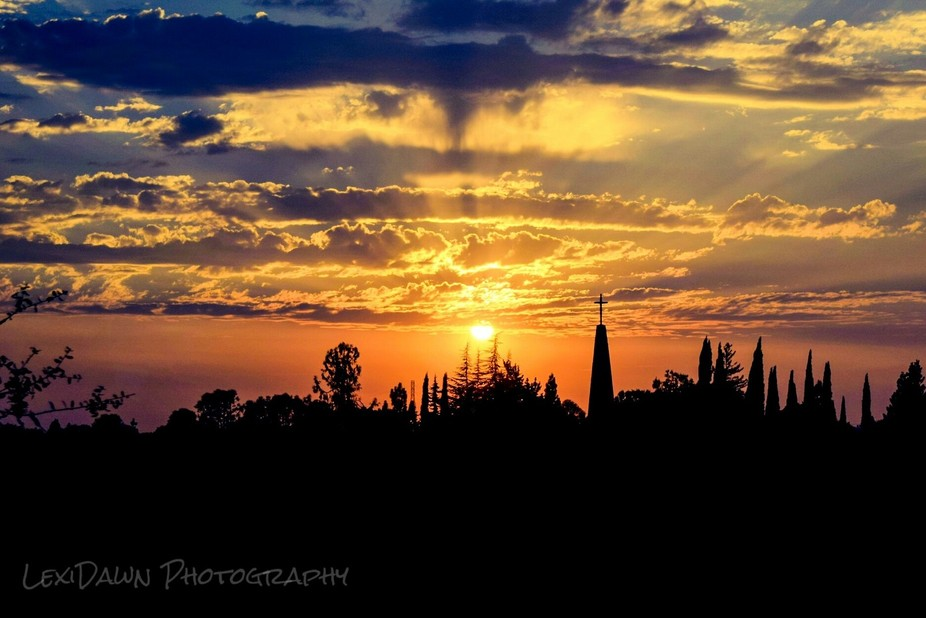 As a truck driver I get to photograph alot of beautiful sunsets. This one was just south of Sacra...