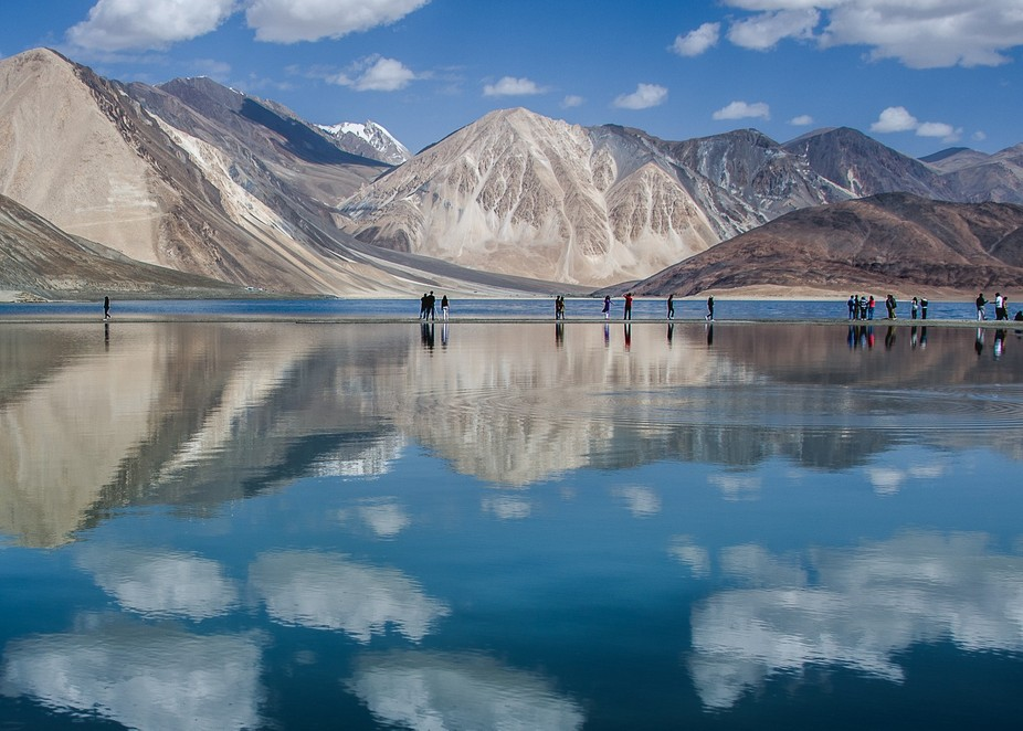 Pangong lake in situated in Changthang region of Ladakh, a mesmerising experience indeed !!!