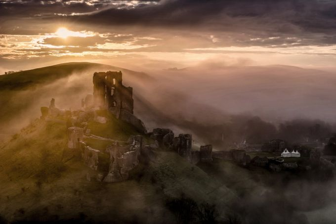 Corfe Castle  by shaunjacobs - Layered Compositions Photo Contest