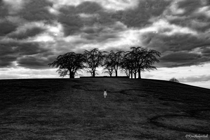 Up the hill by KimAnkerstedt - Black And White Compositions Photo Contest vol2