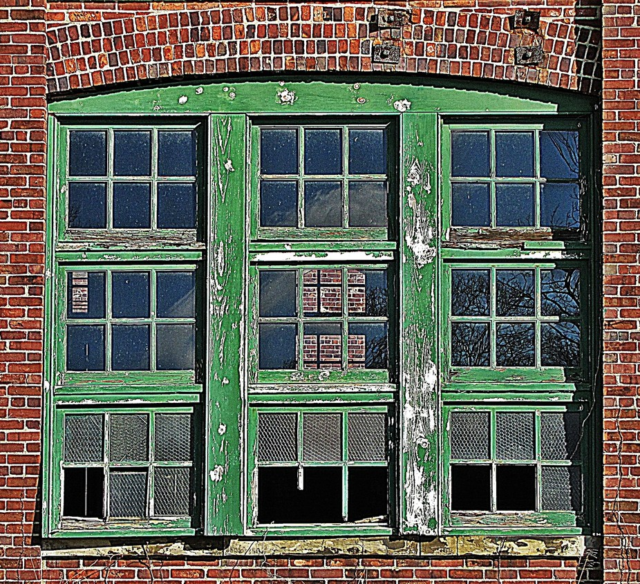 Just some old green windows