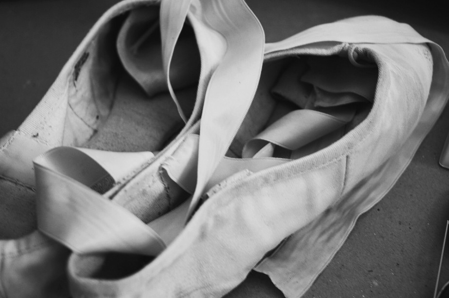 An image from a backstage photo shoot done for a ballet school.