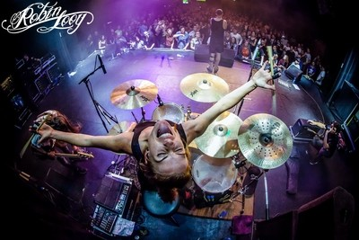 Jade McKinon, drummer for Jack Parow