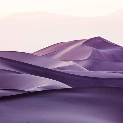 Sunset on Desert near Yazd