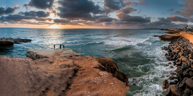 Created from several photos taken with the Nikon D300, this pano was taken in San Diego, California.