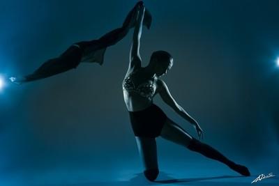 Dancing in blue light