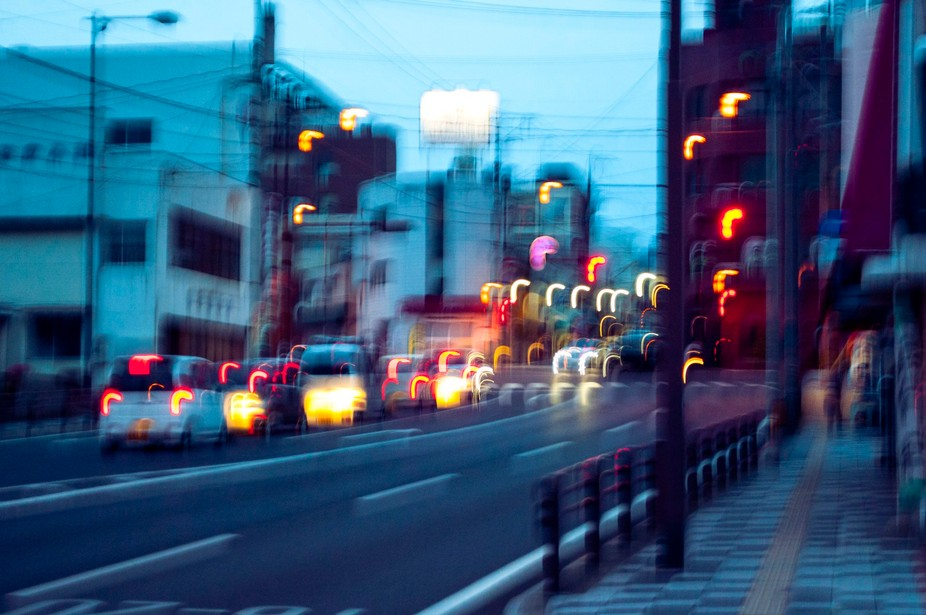 This was taken in front of my apartment in Japan. Just an evening of traffic. I think it&#039...