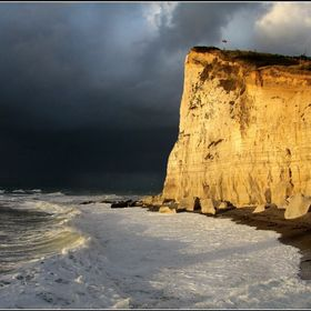 The cliffs at Fecamp in Normandy.