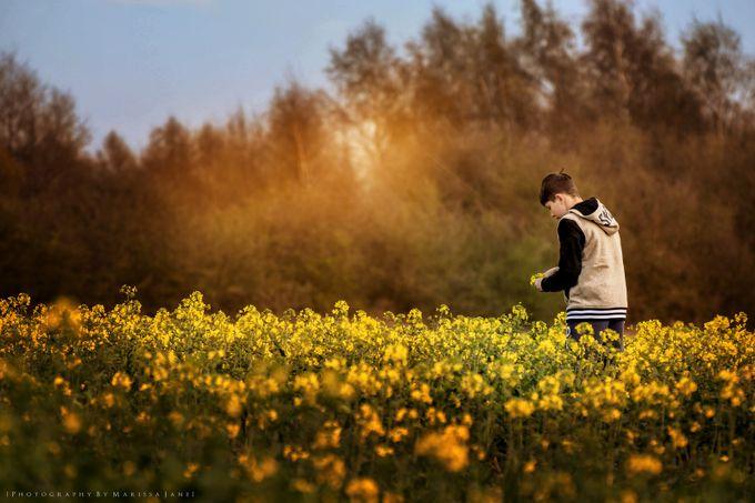 Flower Picking  by MarissaJane - Children In Nature Photo Contest