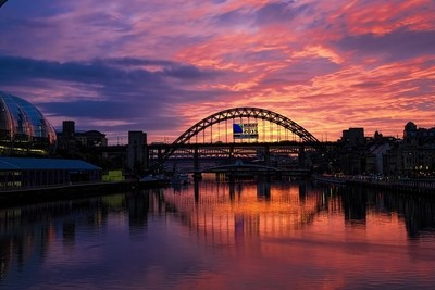 Sunset in Newcastle