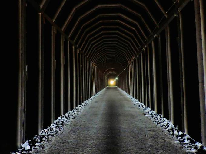 Through the Mountain by matthewsmarsh - Shooting Tunnels Photo Contest