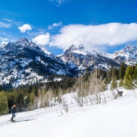 A snowshoe hike at Grand Tetons National Park in Wyoming.