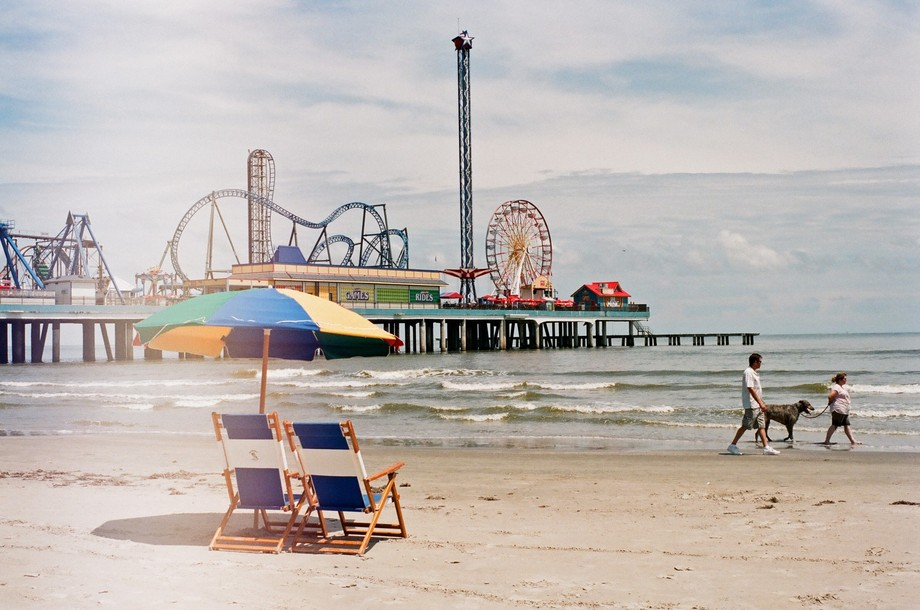 A day of shooting film in Galveston was somewhat pleasantly ruined by light leak in my Minolta XG-M.