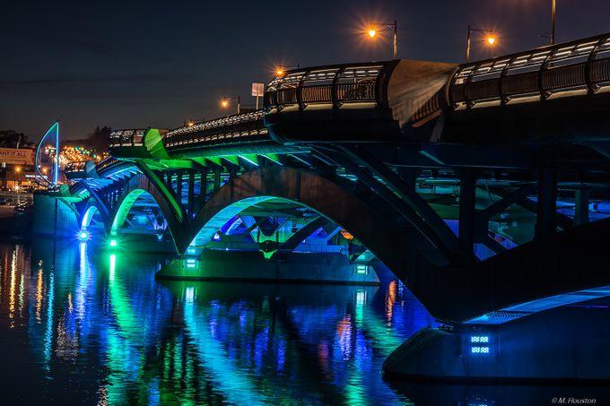 Kenneth F. Burns Memorial Bridge by mjhousto - Night Wonders Photo Contest