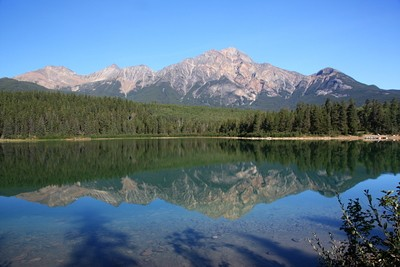 Pyramid Mountain And Reflection