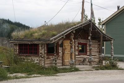 Grass Roof Building - Dawson City