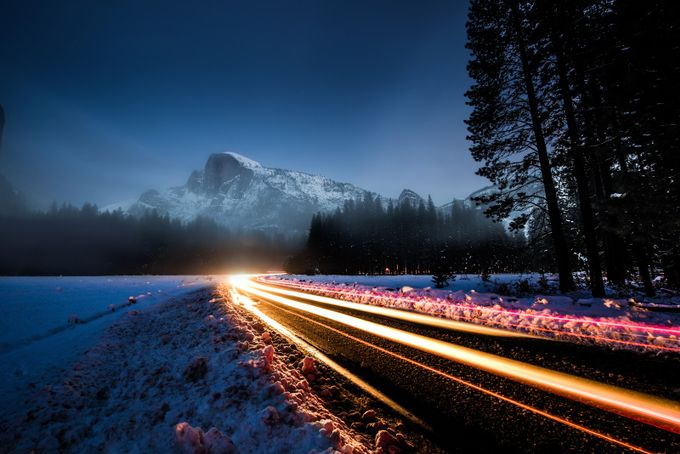 The Road to Half Dome by Broadfootography - Composing with Curves Photo Contest