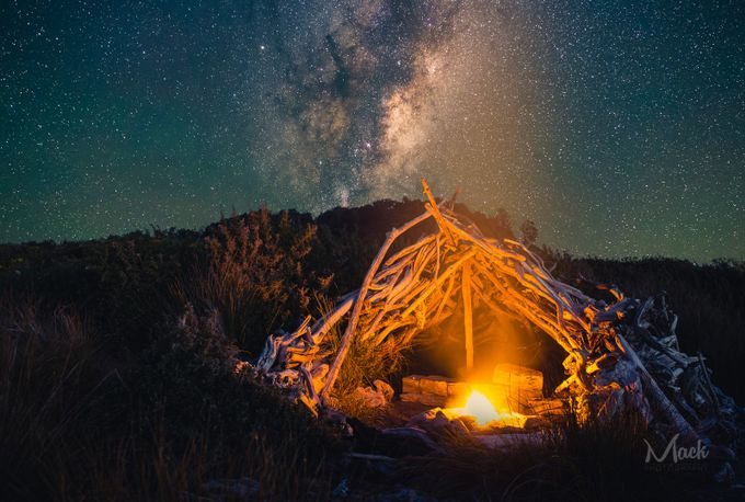 Camping under the Stars by Mack_Photography - Shooting Fire Photo Contest