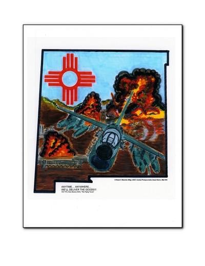 A-7, ''Anytime...  Anywhere...'', (Desert Storm, 4Mar1991) -- © Robert C. Marshall, MSgt, USAF