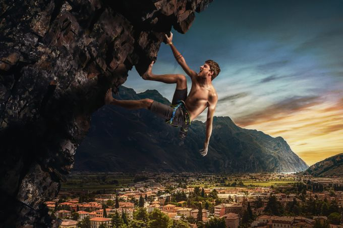 Rock Climber by Kenji - Post Editing Magic Photo Contest