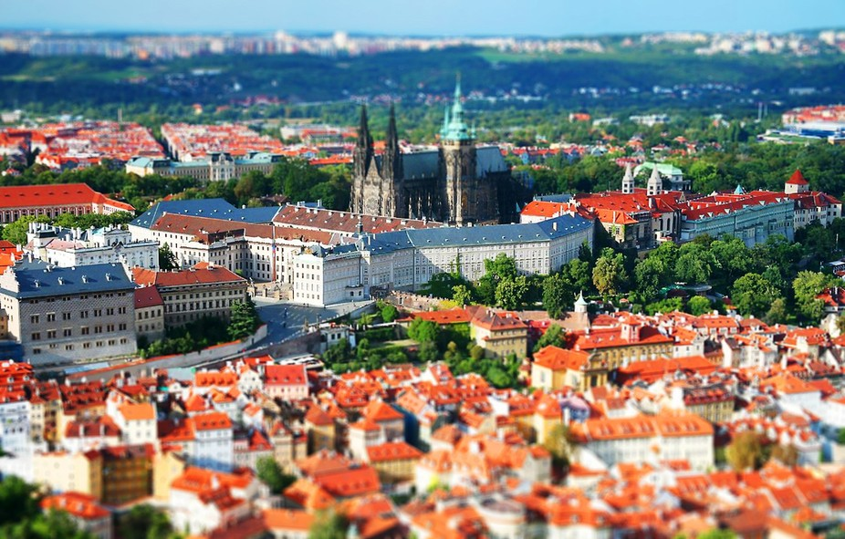 Tilt Shift images of Prague