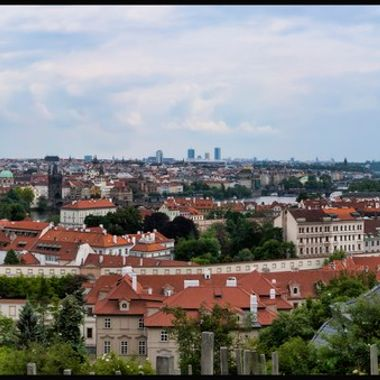 Prague Panorama Over Looking City