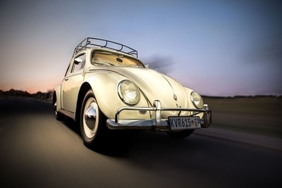 VW Beetle in action