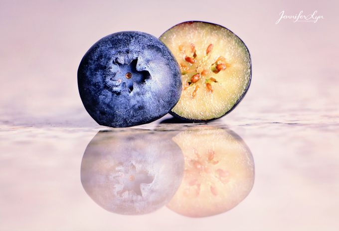 A slice of blueberry by JenniferLynPhotographyAZ - Composing With Circles Photo Contest