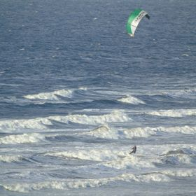 Kite surfer in rossnowlagh