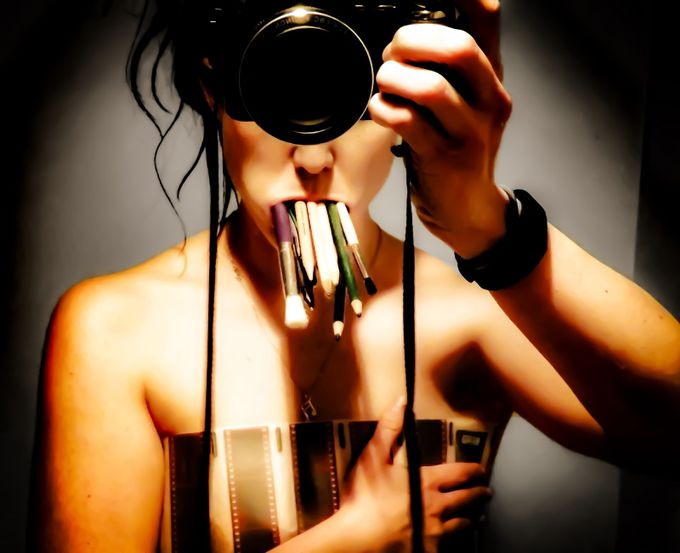 Silenced Shutter - The Photographer  by glass_jenna - The Face in the Mirror Photo Contest