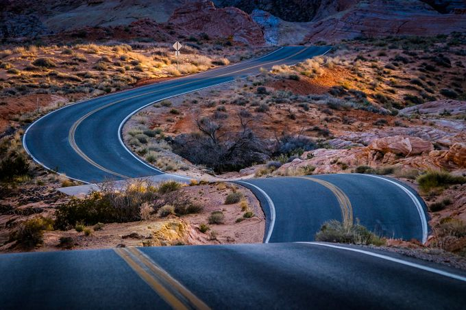 Valley of Fire by bitterer - Composing with Curves Photo Contest